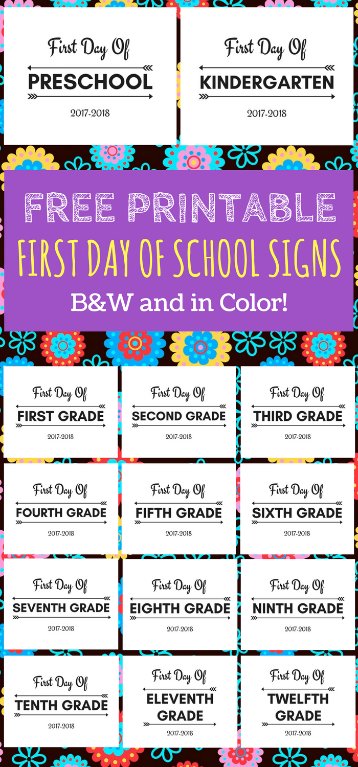 Free first day of school worksheets for kindergarten