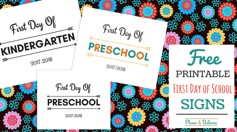 First Day of School Printable FREE 20172018 school year – First Day of School Worksheet