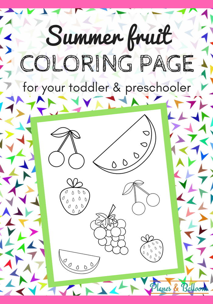 fruits coloring page pdf