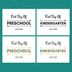 image relating to First Day of Preschool Free Printable identify Initial Working day of Higher education Printable Free of charge 2017-2018 college calendar year
