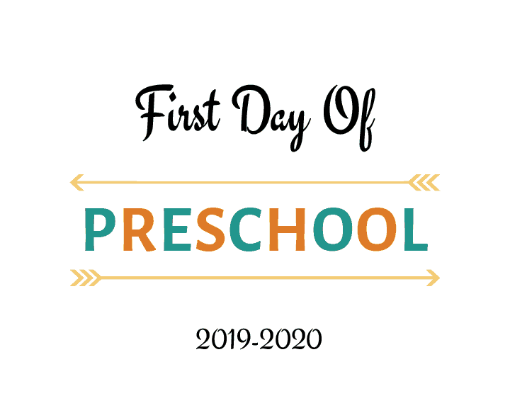 photo about Last Day of Preschool Sign Printable referred to as 1st Working day of Higher education Printable No cost 2017-2018 college or university yr