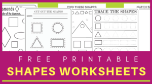Teach your kids to recognize shapes with these fun and free printable shapes worksheets
