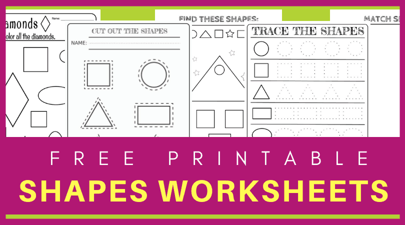 photograph regarding Printable Shapes named No cost printable styles worksheets for babies and preschoolers