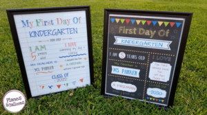 How to create your own editable first day of school signs [with a video tutorial]