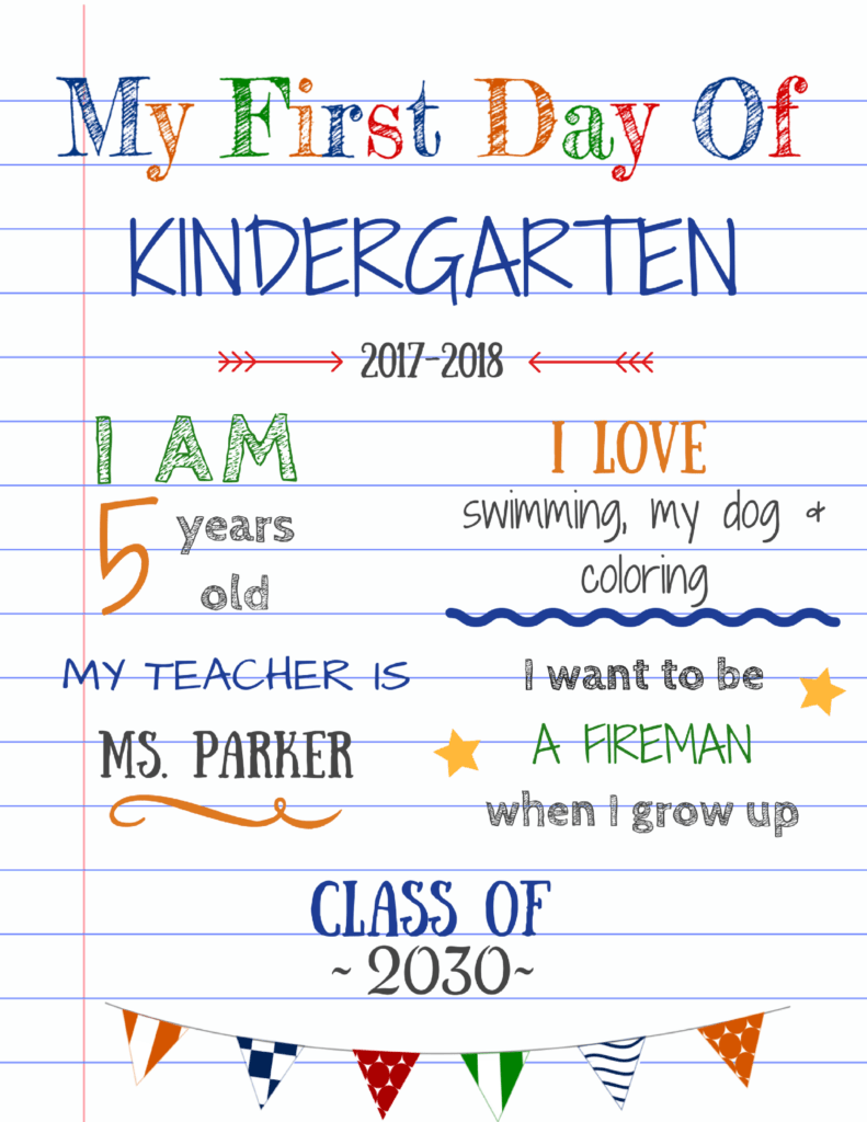 editable first day of school signs