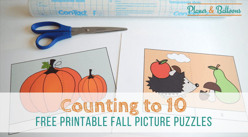 Free printable puzzles for FALL preschool or kindergarten lesson plans. Customize and add your own numbers! Preschool counting, skip counting, counting in 10s or 100s, you can do it all. Perfect for preschool Fall theme. #falltheme #preschool #kindergarten #numberorder #fallactivities #skipcounting