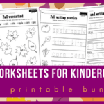 Free Fall Worksheets for Pre-K/Kindergarten