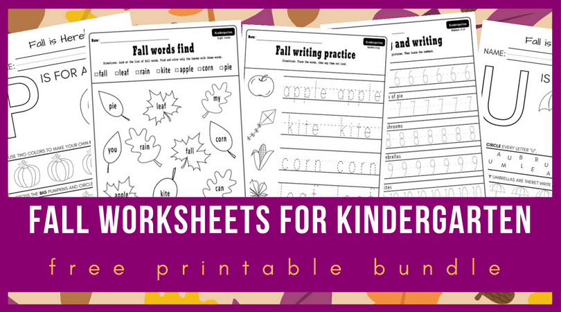 10 + Fall worksheets kindergarten teachers and students ...