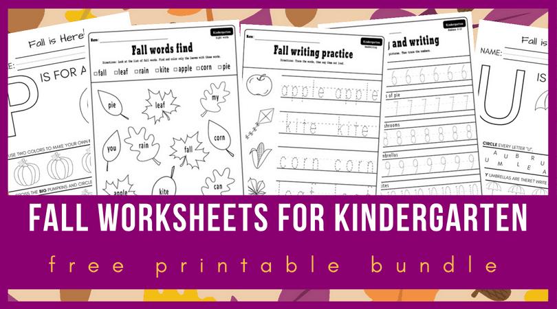Fall Worksheets Kindergarten