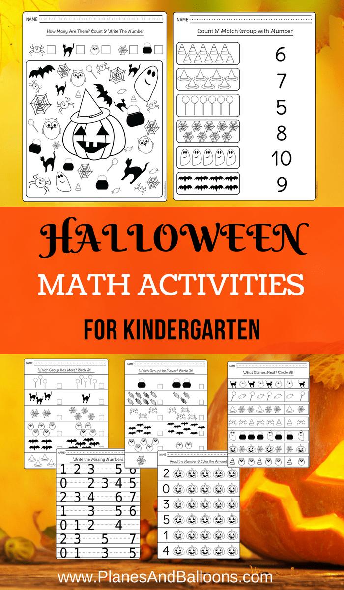 Halloween kindergarten worksheets for math centers and extra Learning – Free Download Kindergarten Worksheets