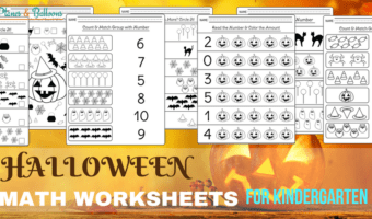 Halloween kindergarten worksheets for math centers and extra fun learning at home