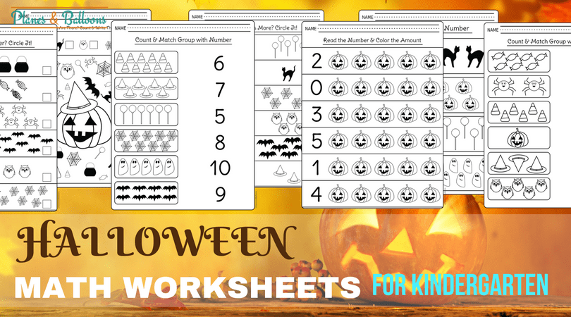 Halloween Kindergarten Worksheets For Math Centers And Extra Learning
