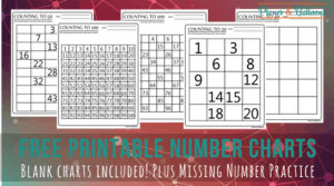 Counting to 100: Number Square Worksheets for Kindergarten and First Grade