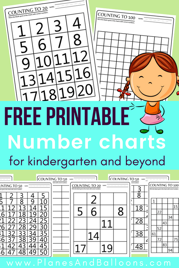 100 Chart Printable Worksheets for Counting & Skip Counting Practice