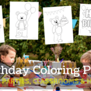 Birthday Coloring Pages For Birthday Parties, Classrooms And Home