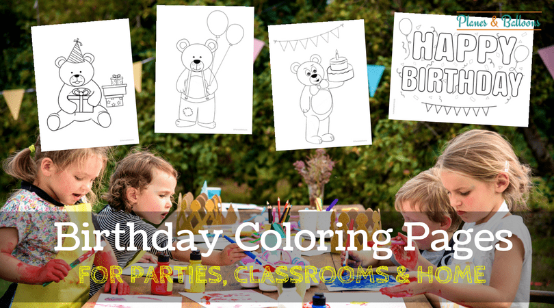 Birthday Coloring Pages Free Printable