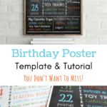 How to Make Your Own Birthday Poster [with a free template & step-by-step tutorial]