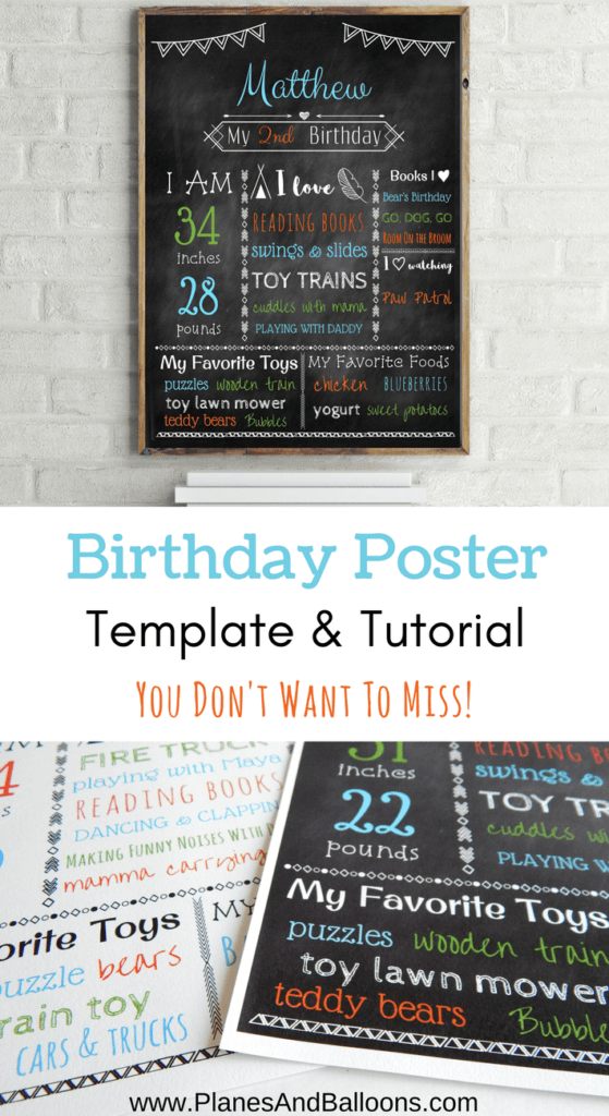 birthday poster template free with step by step tutorial