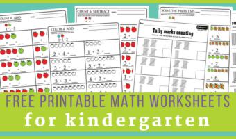 kindergarten math worksheets pdf