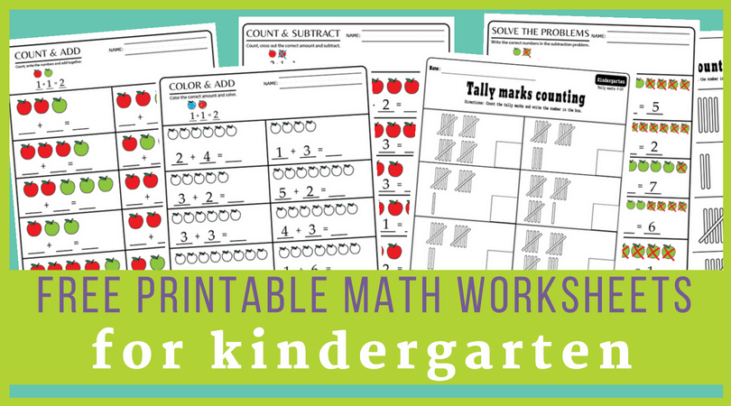 image about Free Printable Addition and Subtraction Worksheets known as 15+ Kindergarten math worksheets pdf documents toward down load for Absolutely free