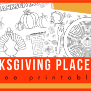 Free printable Thanksgiving placemats to keep kids engaged during Thanksgiving dinner party