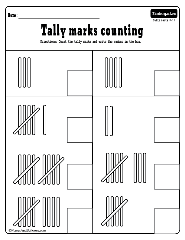 Tally Marks 01 Planes Balloons Printables For Everyday Life