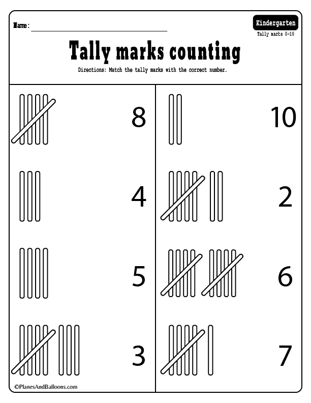 Tally Marks 03 Planes Balloons Printables For Everyday Life