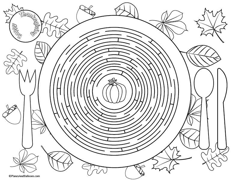 graphic about Printable Thanksgiving Placemat known as Printable Thanksgiving placemats for little ones in direction of remedy and coloration