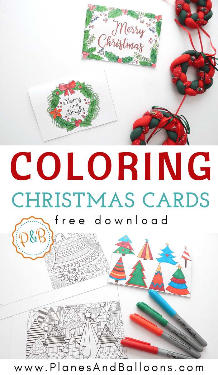 unique christmas cards 6 unique cards to color free printable 29007