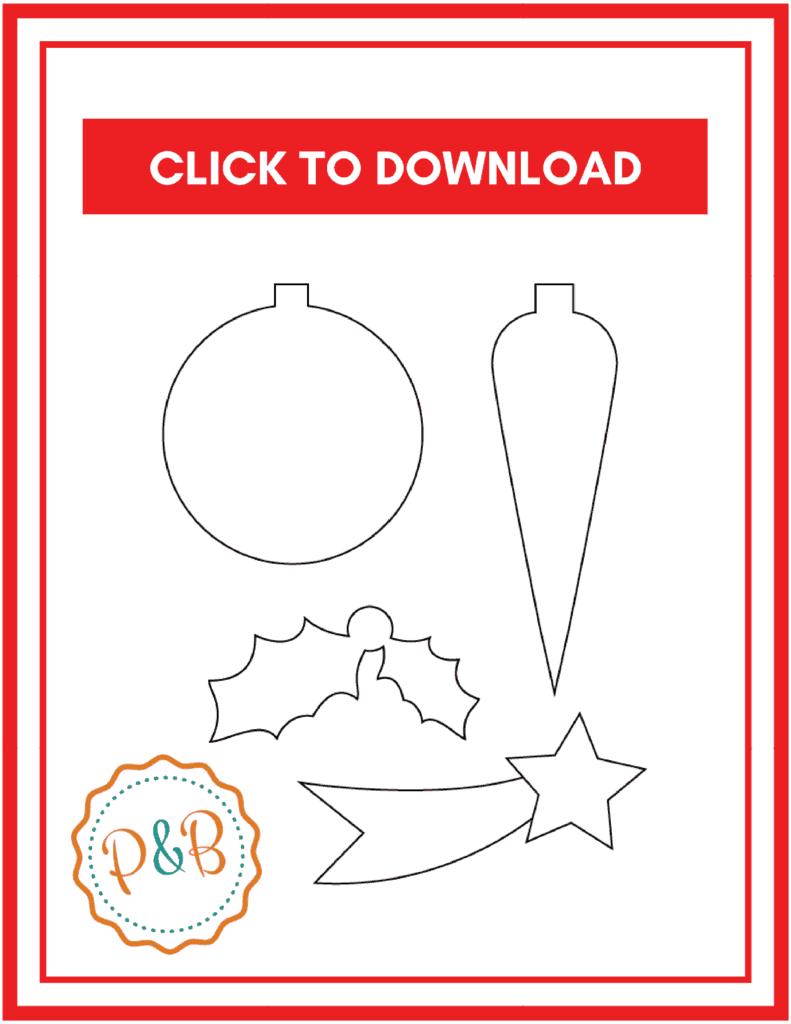 Free printable Christmas templates- printable Christmas templates for activities with your kids this holiday season. #christmas