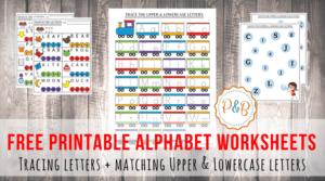 Adorable Alphabet Worksheets for Preschool or Kindergarten
