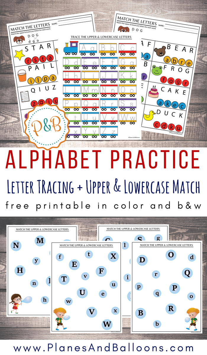 alphabet worksheets free printable tracing matching letters. Black Bedroom Furniture Sets. Home Design Ideas