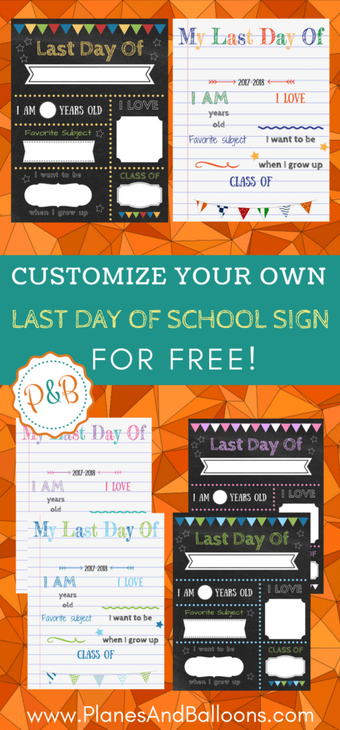 Editable last day of school sign 4