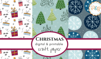 Printable Christmas paper for your creative holiday projects