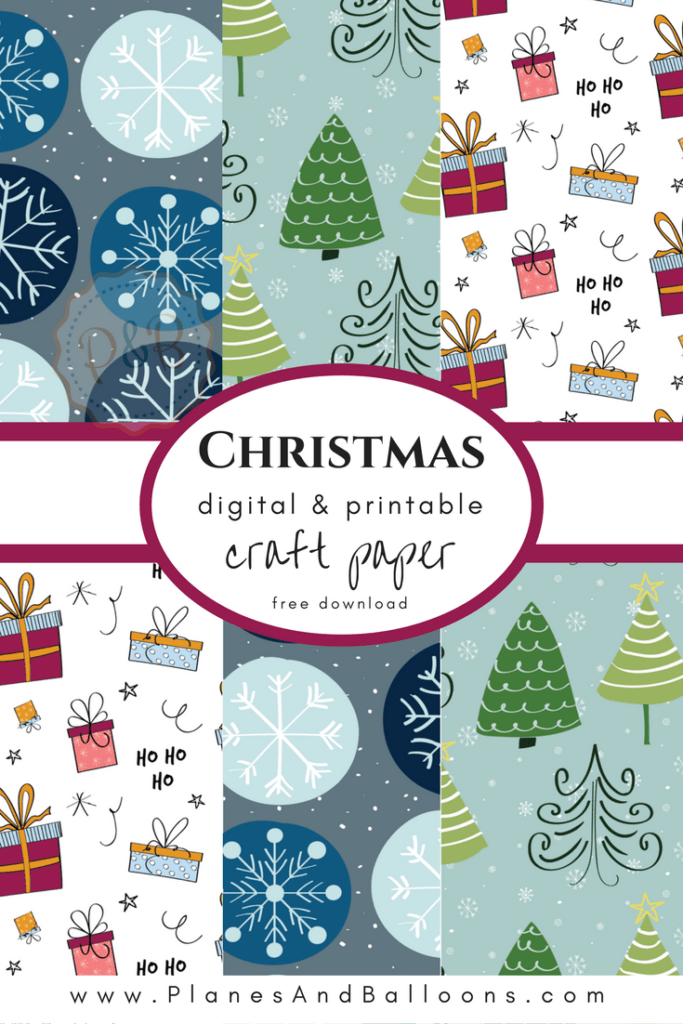 Free printable Christmas craft paper for all your diy holiday projects. Free Christmas scrapbooking paper I love. #christmas