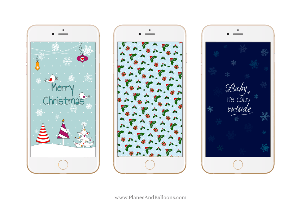 photo regarding Printable Phone titled Xmas wallpaper in direction of costume your cellphone inside family vacation cheer