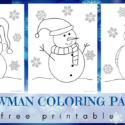 Snowman coloring pages