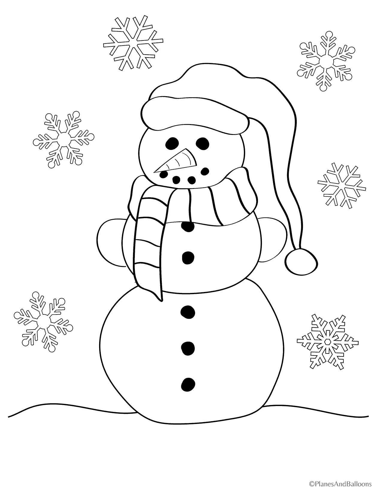 Snowman coloring pages for all the kids who love winter for Coloring pages of snowman