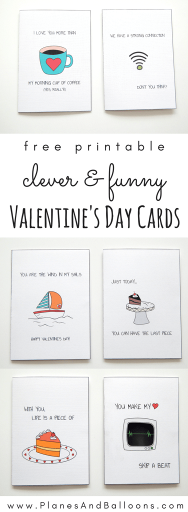 Cute idea for funny Valentines day cards! DIY printable cards everyone will love. #valentinesday