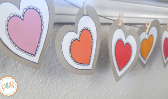 Colorful and easy heart garland to decorate your heart out this Valentine's day