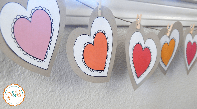 Easy DIY Valentines day heart banner