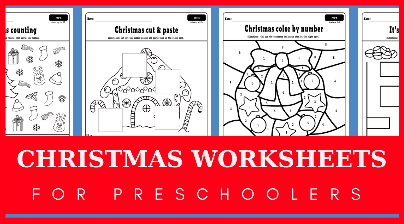 free christmas worksheets for preschool printable christmas worksheets include color by numbers fine motor