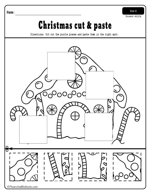christmas worksheets for preschool