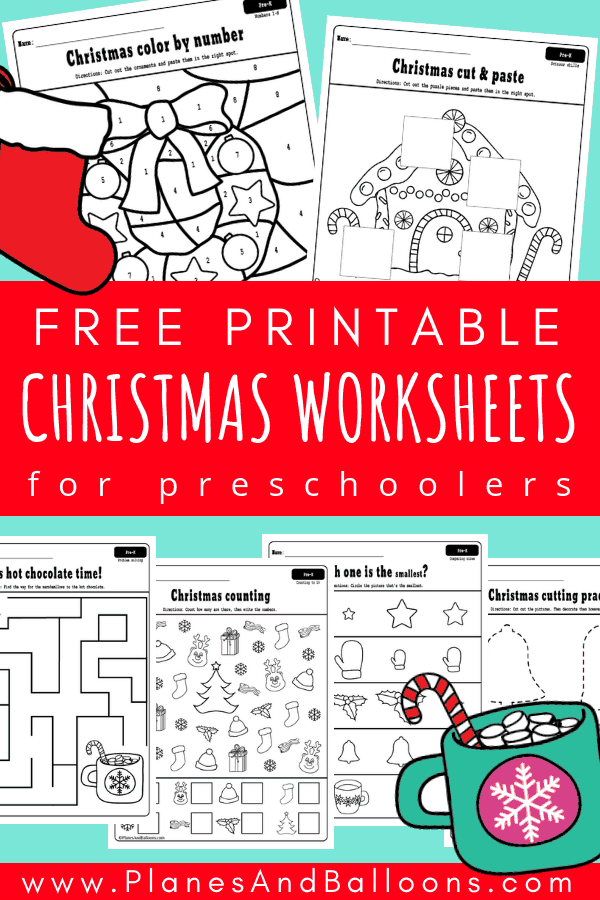 picture relating to Free Printable Holiday Worksheets referred to as absolutely free printable holiday vacation worksheets - Planes Balloons