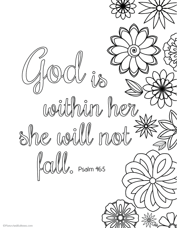 Bible Verse Coloring Pages That Give You Strength To Face Giants Of Rhplanesandballoons: Fall Coloring Pages With Bible Verses At Baymontmadison.com