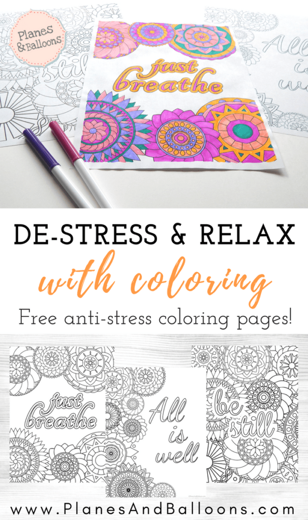 Stress relief coloring pages to help you find your Zen again