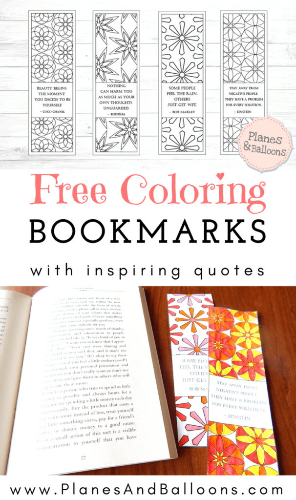 Coloring bookmarks for adults