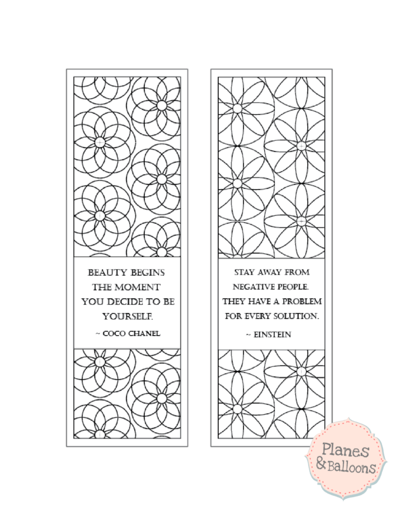 coloring bookmarks with quotes