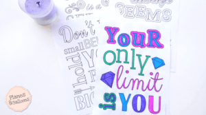 Motivational coloring pages to help you stay focused on your dreams