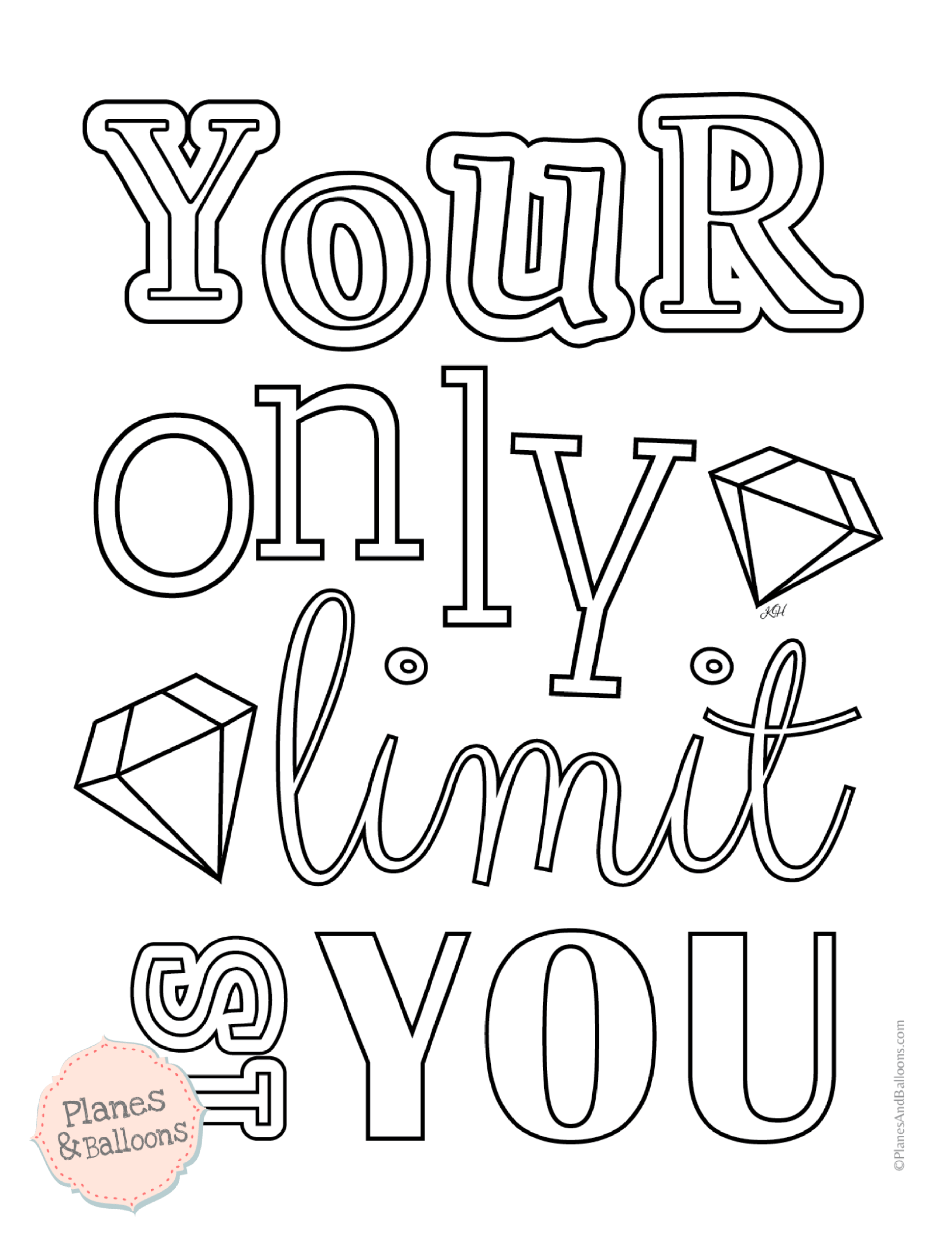 motivational coloring pages for adults - Planes & Balloons ...
